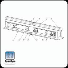 Изолирующий стык АпАТэК Р-50 (6 отверстий)