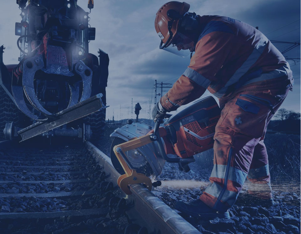 Демонтаж железнодорожных путей