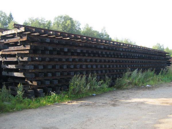 Рельсошпальная решетка на деревянной шпале бу
